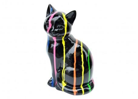 Statue chat en résine - H26cm