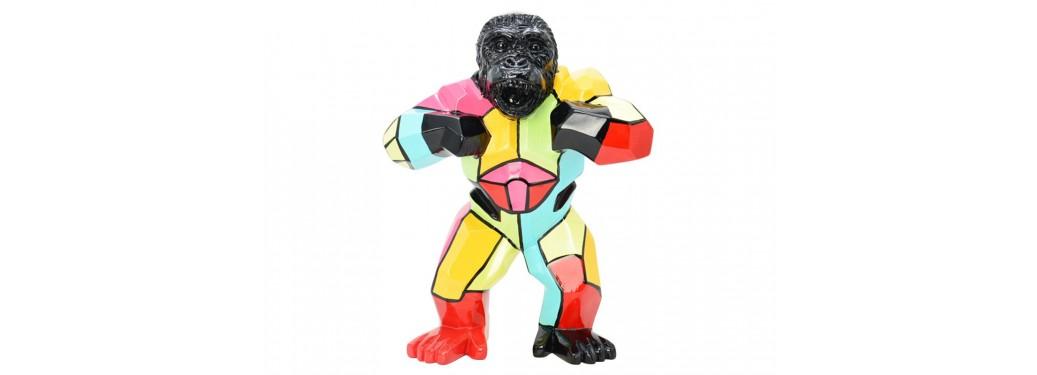 Statue de gorille en résine