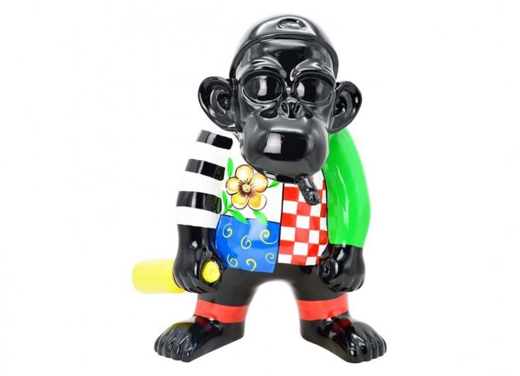 Statue pop art de gorille en résine