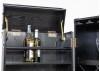 Malle bar Cap Horn - Moyen modèle - Façon croco marron