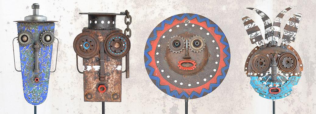 Collection masques décoratifs en métal