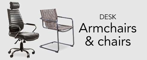 Desk armchairs and chairs